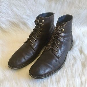 Cole Hann Brown Leather Chukka Boots 13